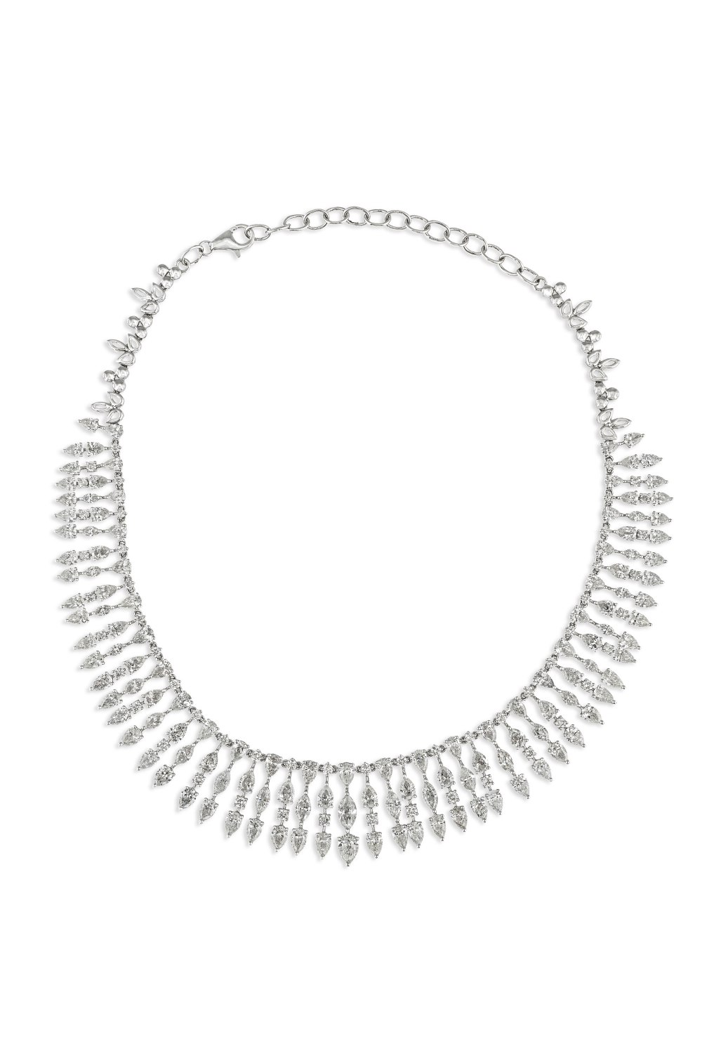 Marquise and Brilliant Cut Diamond Necklace
