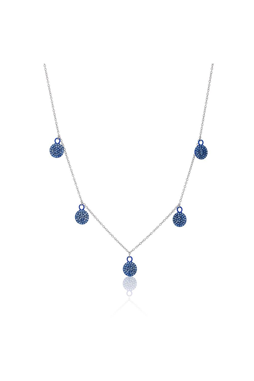 Multi Circle Charm Diamond Necklace