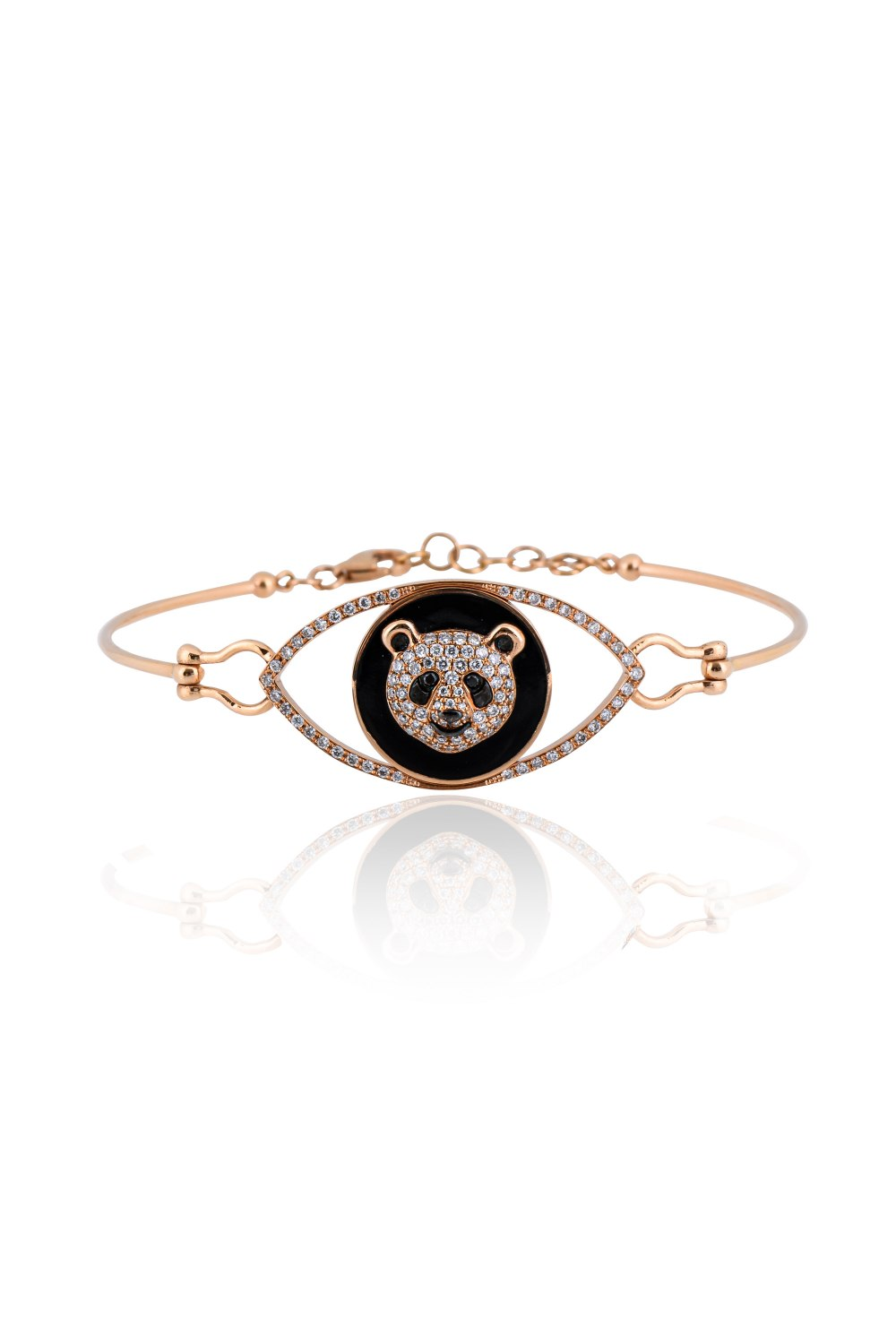 Kessaris-Panda Spirit Animal Diamond Bracelet