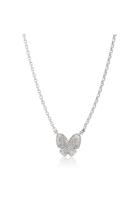 Pavé Diamond Butterfly Necklace
