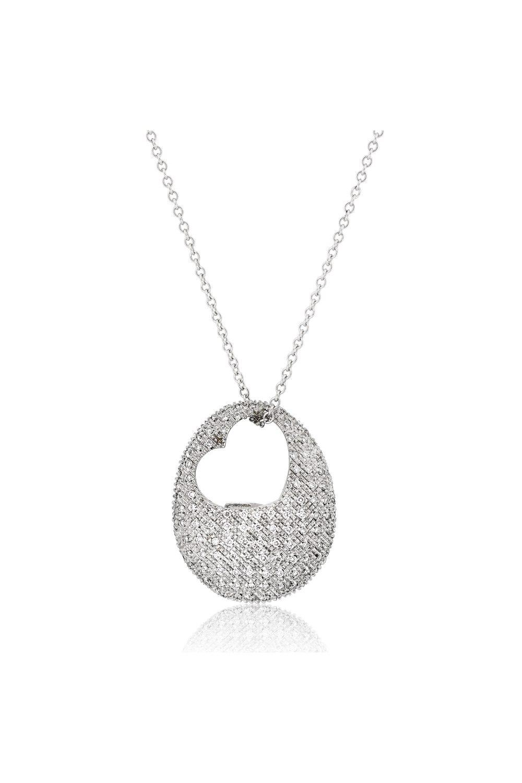 Pavé Diamond Heart Necklace