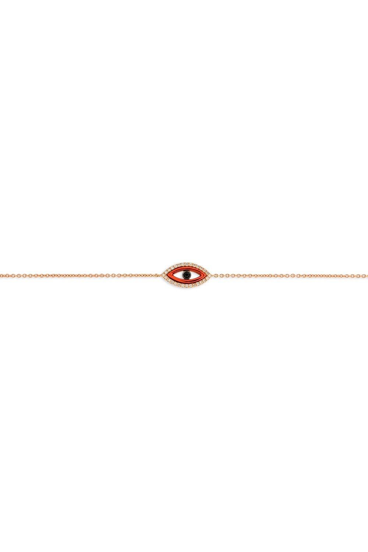 Red Evil Eye Diamond Bracelet