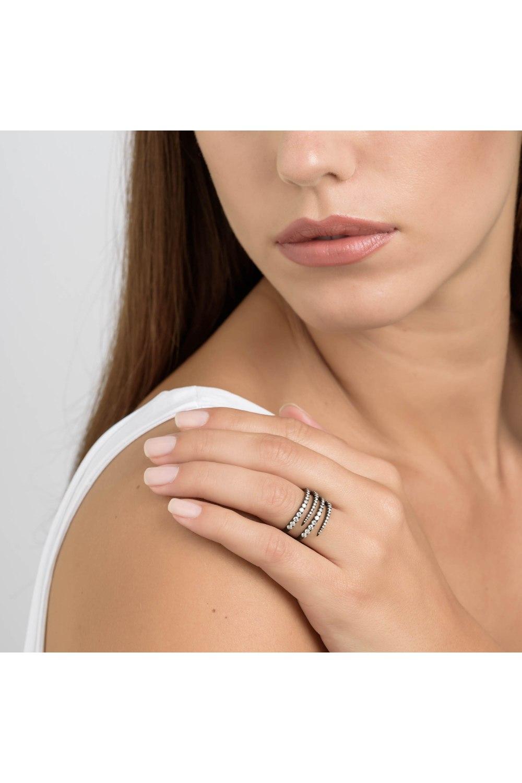 Black Colored Gold Diamond Ring