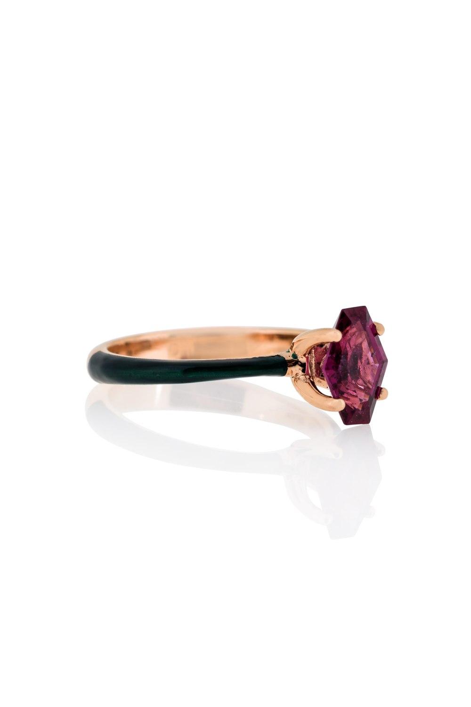 Gold Enamel Ring
