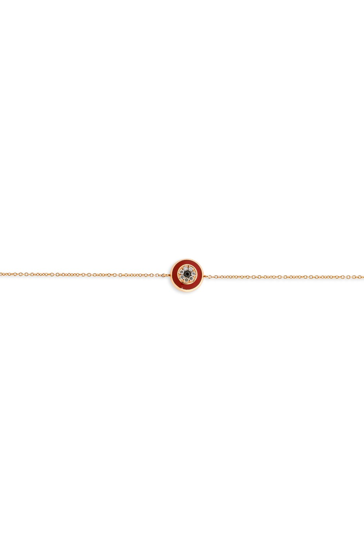 Round Red Evil Eye Diamond Bracelet