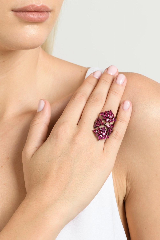 Ruby Shield Ring