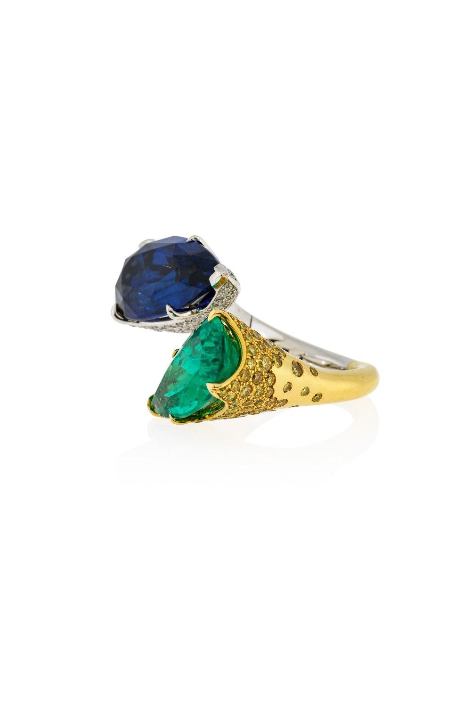 Sapphire & Emerald Statement Ring