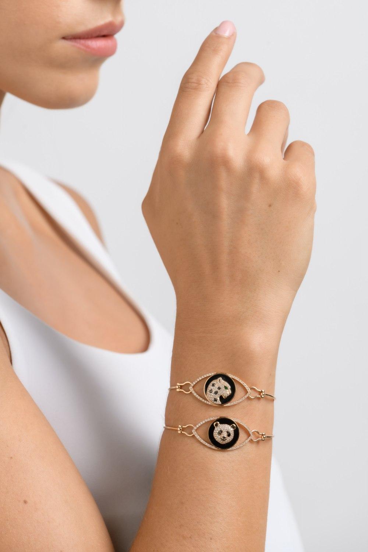 Kessaris-Panda Spirit Animal Diamond Bracelet