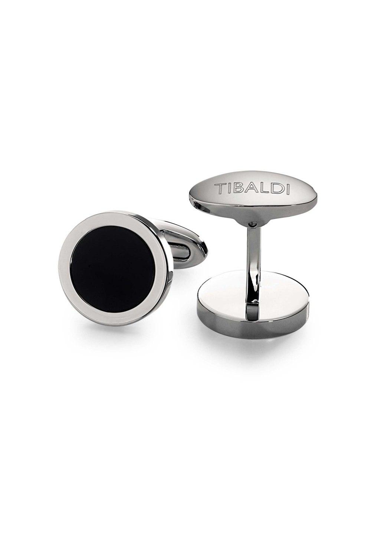 Kessaris-Tibaldi Round Onyx Cufflinks