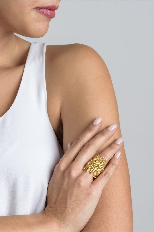 Yellow Diamond Statement Ring