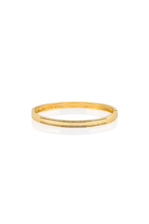 Yellow Gold Diamond Cuff Bracelet