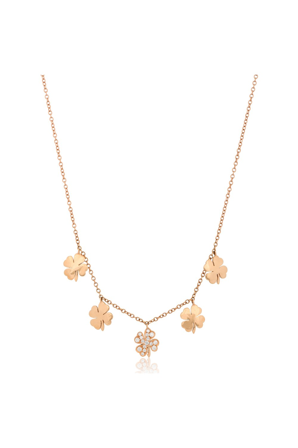 Kessaris-Diamond Lucky Charm Necklace