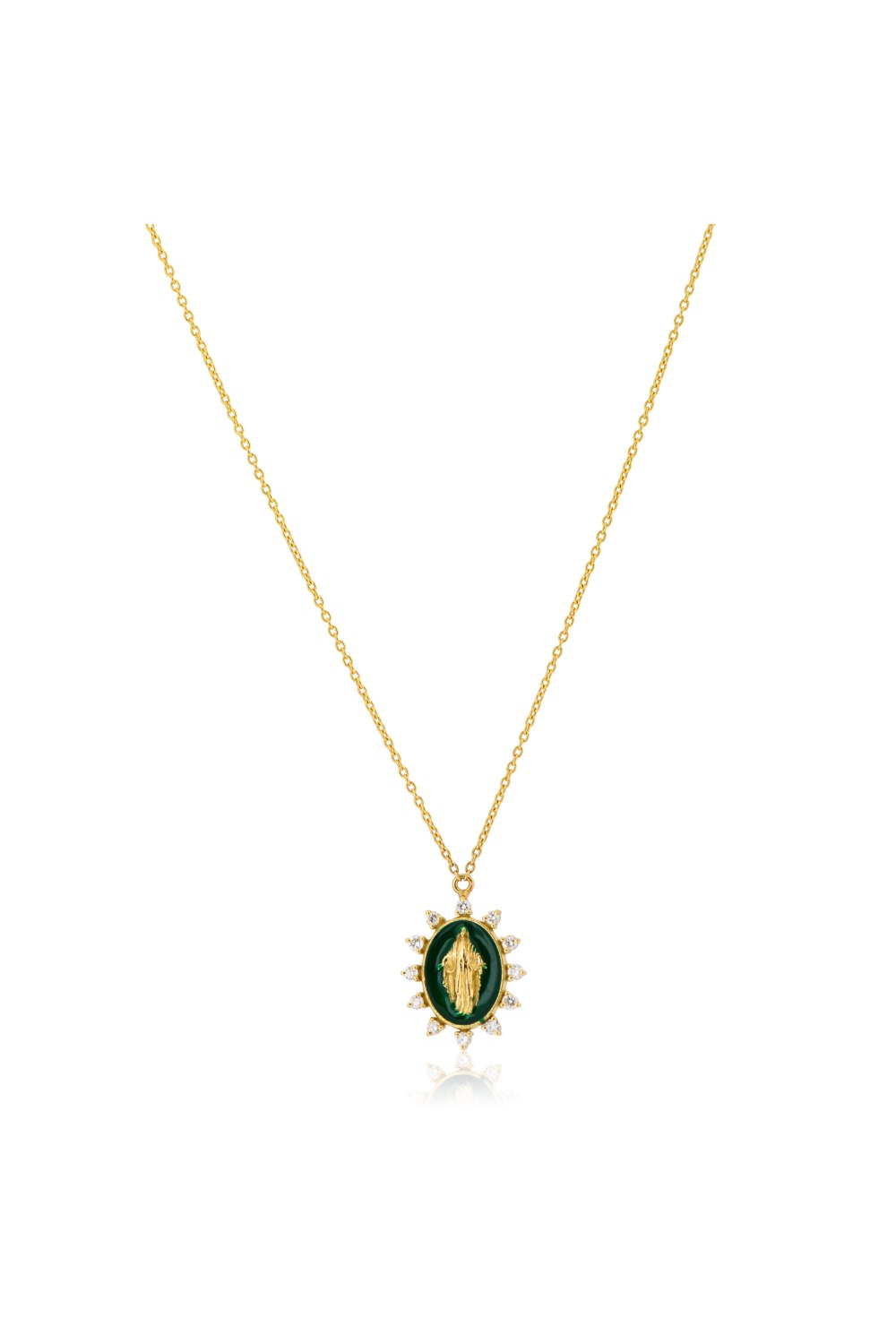 Kessaris-Madonna Diamond Necklace