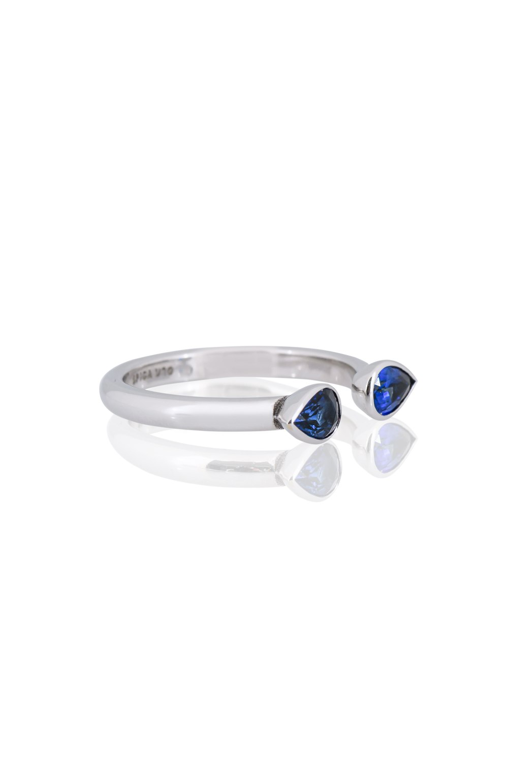 Double Drop Sapphire Ring