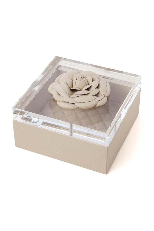 Beige Leather Box