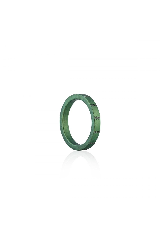 Round and Around Green Titanium Diamond Ring