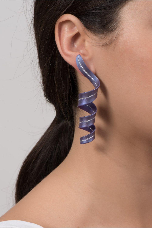 SerpenTEEN Purple Titanium Diamond Earrings