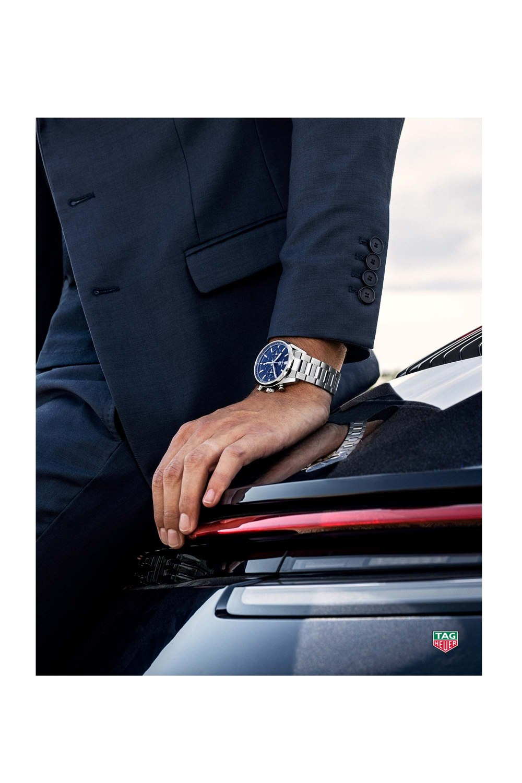 Kessaris-TAG Heuer Carrera Automatic Chronograph Blue Dial