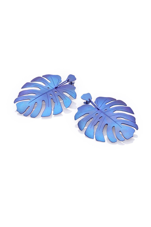 Tropicalia Blue Purple Titanium Earrings