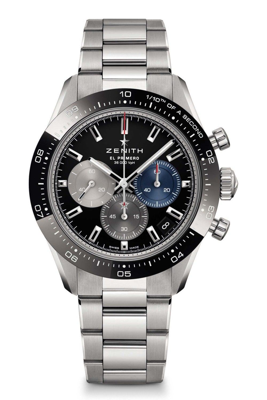 Kessaris-Zenith Chronomaster Sport-Black Dial-Steel Bracelet