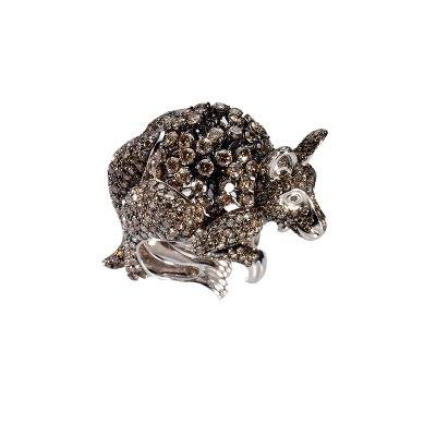 Brown Diamond Kangaroo Ring