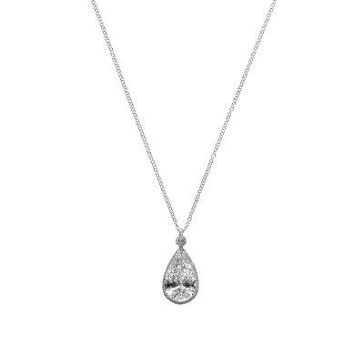 Solitaire Pear Diamond Pendant