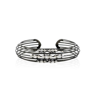Black Rhodium Gold Diamond Bracelet