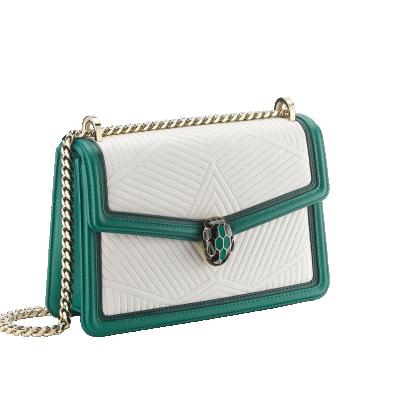 Bulgari Serpenti Diamond Blast Shoulder Bag Emerald Green