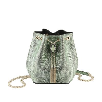 Bulgari Serpenti Forever Micro Bucket Bag Mint Metallic
