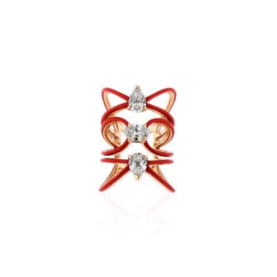Red Ceramic Diamond Ring