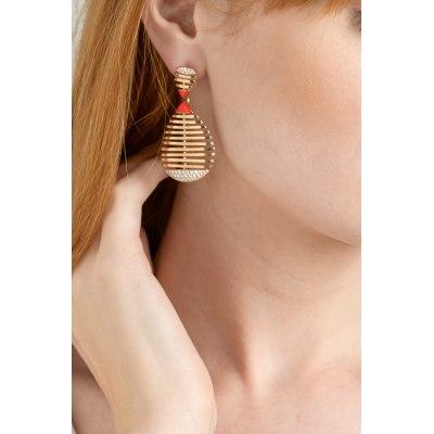 Rose Gold Ceramic Diamond Earrings