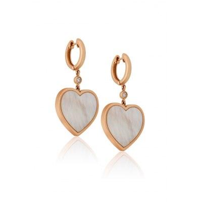 Heart Mother of Pearl Earrings