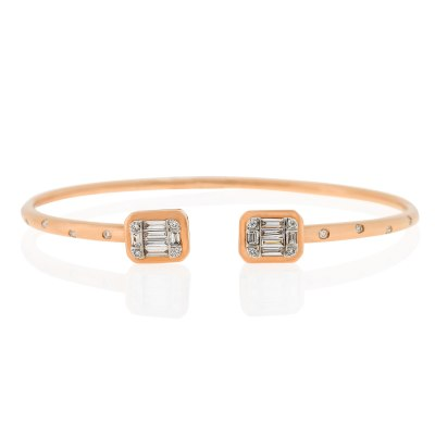 Kessaris-Diamond Cuff Bracelet
