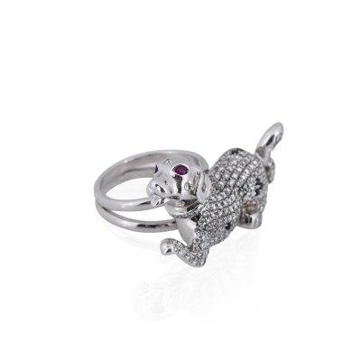 Kessaris Diamond Dog Ring