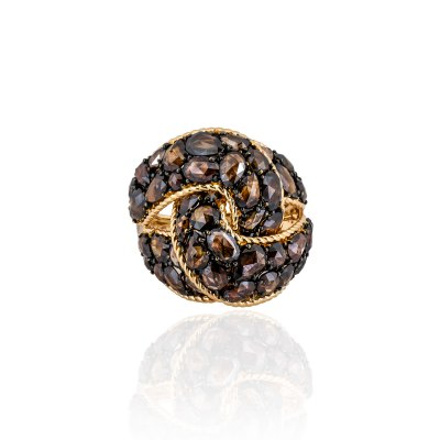 Kessaris-Diamond Gold Statement Ring