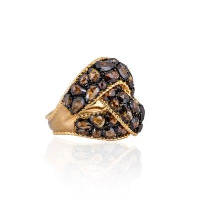 Kessaris-Diamond Gold Statement Ring