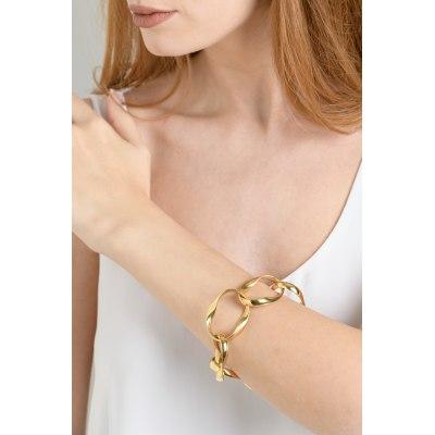 Kessaris-Gold Chain Link Bracelet