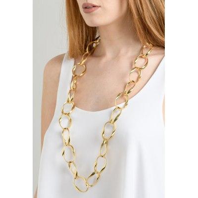 Kessaris-Gold Chain Link Necklace
