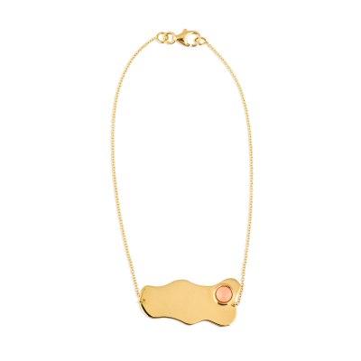 Yellow Gold Coral Bracelet
