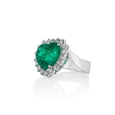 Heart Emerald Ring