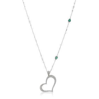 Pavé Diamond Heart Pendant