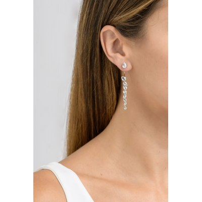 Kessaris-Staurino-Diamond Dangle Earrings