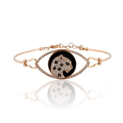 Kessaris-Tiger Spirit Animal Diamond Bracelet