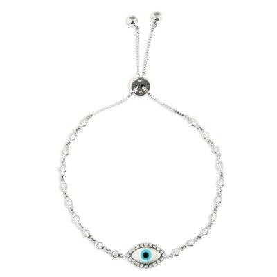 White Evil Eye Diamond Bracelet