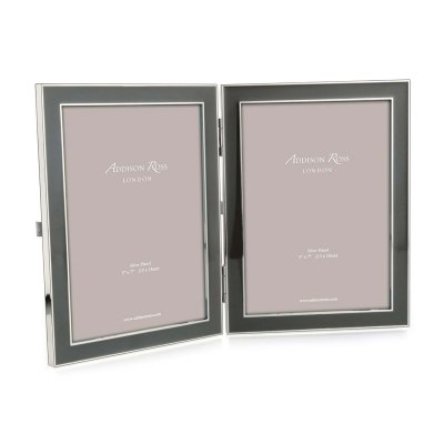 Grey Double Picture Frame