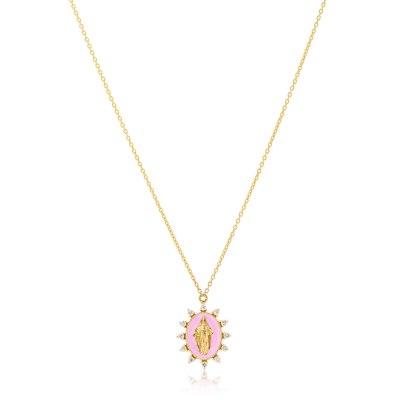 Kessaris-Madonna Diamond Necklace