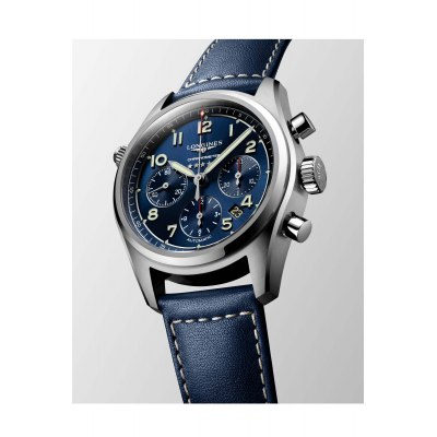 Kessaris-Longines Spirit Chronograph Blue Dial