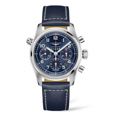 Kessaris-Longines Spirit Chronograph Blue Dial