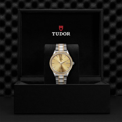 Tudor Style Steel and Gold